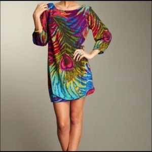 Trina Turk Peacock Mini Dress